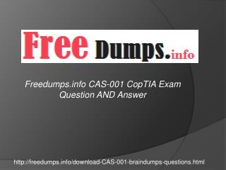 CopmTIA CAS-001 PDF Exam Questions Answers