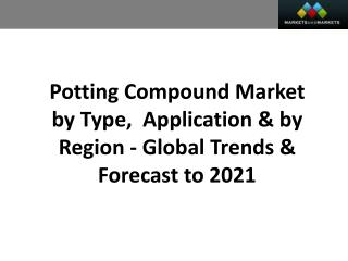 Potting Compound Market worth 3.13 Billion USD by 2021
