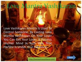 Love Mantra Vashikaran