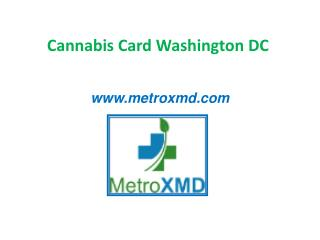 Cannabis Card Washington DC