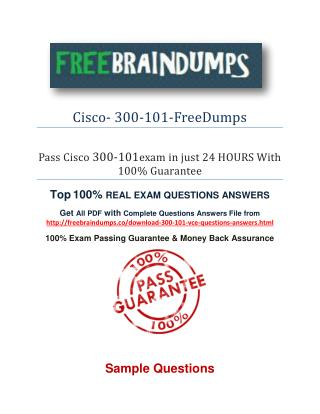 free 300-101 dumps pdf Exam Question & Answers Dumps PDF Files
