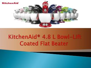 KitchenAid® 4.8 L Bowl-Lift Coated Flat Beater