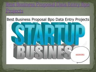 Best Business Proposal Data Processing Outsourcing