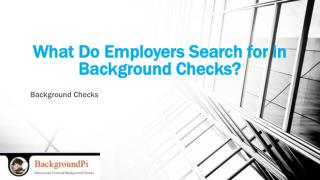What Do Employers Search for in Background Checks?