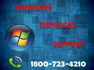 Microsoft Windows 10 Technical Support Phone Number 1800-723-4210