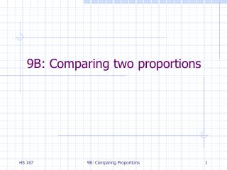 9B: Comparing two proportions