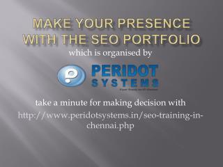 Make your Presence with the SEO Portfolio