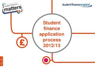 Student finance  application process 2012