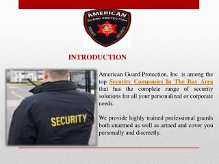 Northern California Private Security Guards