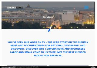 Services - Washington DC Video Production - Cocklins Digital