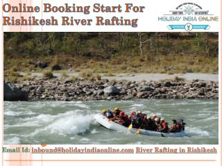 Online Booking Start For Rishikesh River Rafting