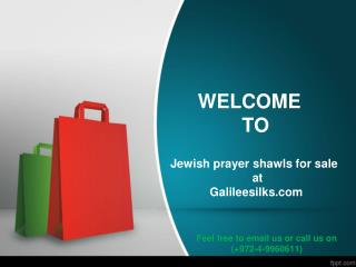 Jewish prayer shawls for sale at galileesilks.com