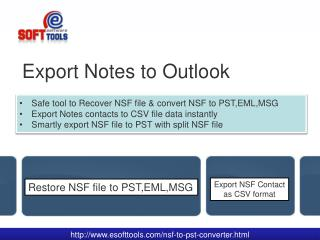 Export Notes to Outlook