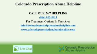 Colorado Prescription Abuse Helpline