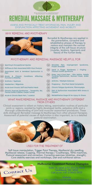 Remedial Massage & Myotherapy For Treat Myofascial Pain and Injury