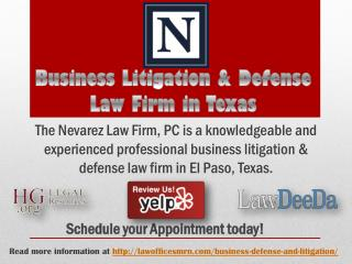 Business Litigation & Defense Law Firm in Texas