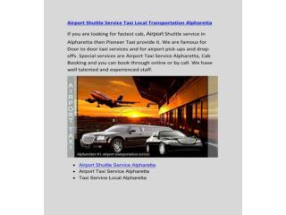 Airport Shuttle Service Taxi Local Transportation Alpharetta