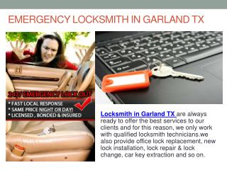 Emergency Locksmith In Garland TX