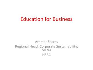 Education for Business