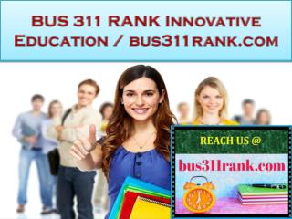 BUS 311 RANK Innovative Education / bus311rank.com