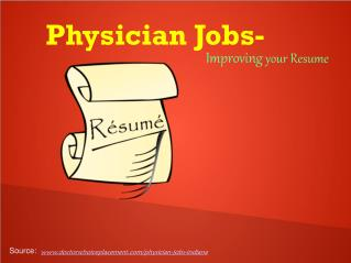 Physician Jobs- Improving your career