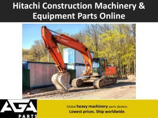 Hitachi Global Machinery Parts Dealer - AGA Parts