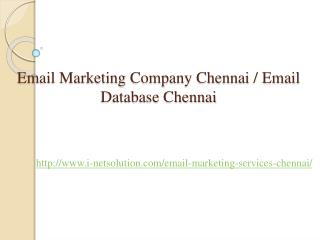 Email Marketing Company Chennai, Email Database Chennai