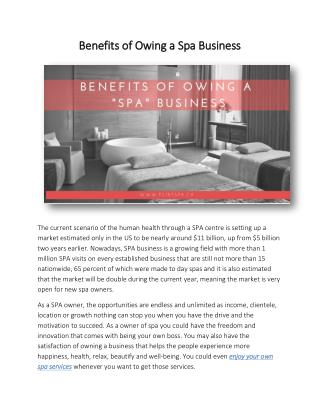 Benefits of Owing a Spa Business