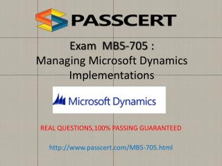 Microsoft MB5-705 exam practice test download