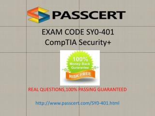 CompTIA Security  SY0-401 practice test