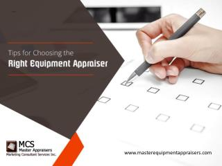 The Guide for Finding a Qualified Equipment Appraiser