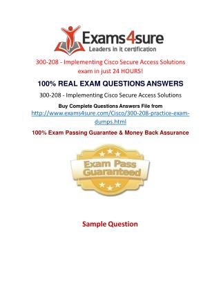 300-208 Questions Answers