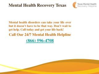 Mental Health Recovery Texas