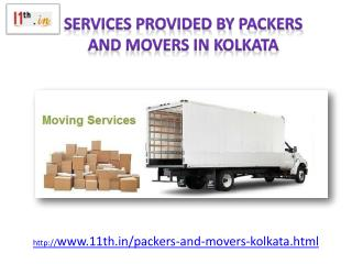 Trusted packers and movers in Kolkata