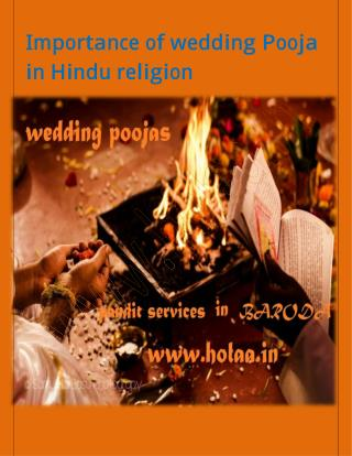 Importance of wedding Pooja  in Hindu religion