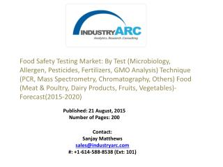 Food Safety Testing Market: Investment in this market ensures lots of applications in other companies and sectors