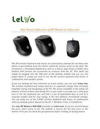 Buy Finest Collection of HP Mouse at Lelyo.com