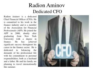 Radion Aminov - Dedicated CFO