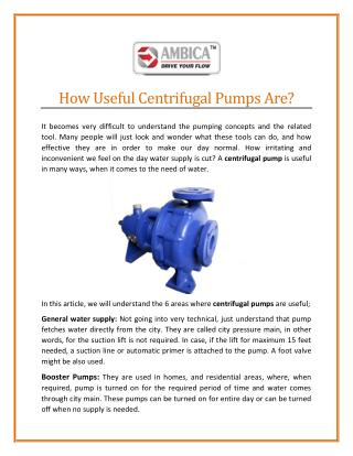 Most Reliable Centrifugal Pump Manufacturer in India