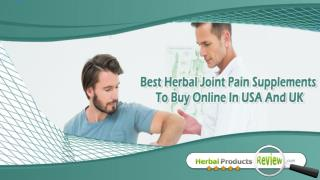 Best Herbal Joint Pain Supplements To Buy Online In USA And UK