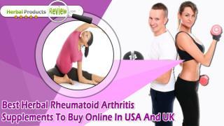 Best Herbal Rheumatoid Arthritis Supplements To Buy Online In USA And UK
