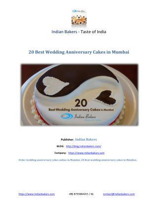 20 Best Wedding Anniversary Cakes in Mumbai