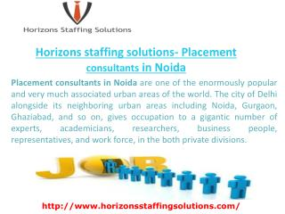 Horizons staffing solutions- Placement consultants in Noida
