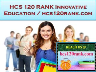 HCS 120 RANK Innovative Education / hcs120rank.com