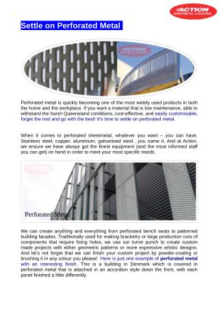 Building with perforated metal facades