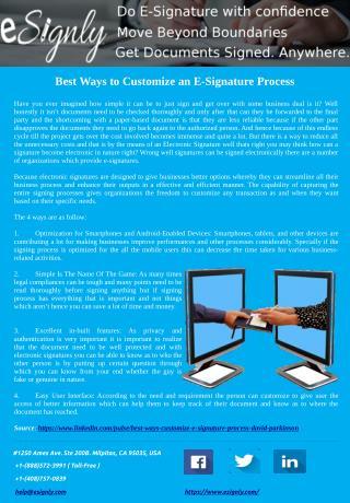 Best Ways to Customize an E-Signature Process