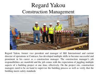 Regard Yakou - Construction Management