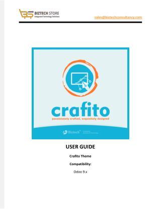 Crafito Odoo Theme - User Guide