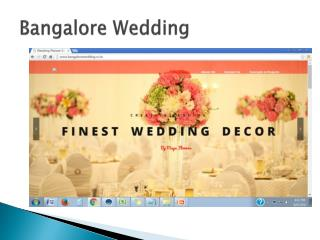 Bangalore Wedding